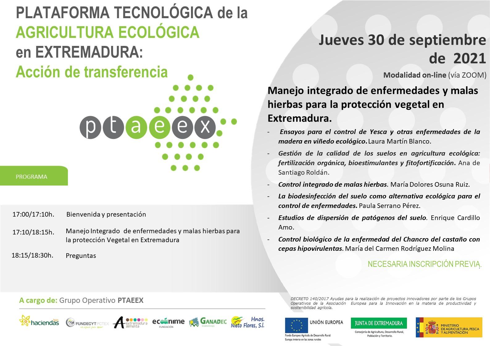 Acción de transferencia: Manejo integrado de enfermedades y malas hiervas para la protección vegetal en Extremadura
